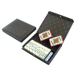 Porta naipes-domino y dados...
